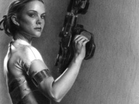 Natalie Portman as Padme Amidala Pencil Drawing