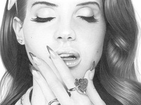 Lana Del Rey Pencil Drawing