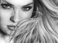 Candice Swanepoel Pencil Drawing
