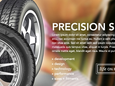 Firestone New Product Website Concept design firestone tire product website