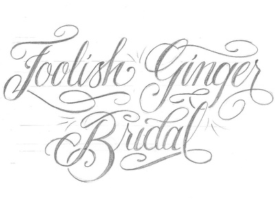 Bridal Lettering  logo design hand lettering calligraphy type bridal postcard
