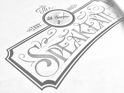 Window Sketches P.2 calligraphy lettering type restaurant pencil sketch wip design window