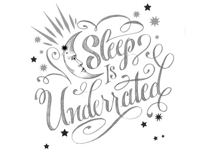 Sleep.... poster design type hand lettering sketch pencil text lettering celestial sleep wip