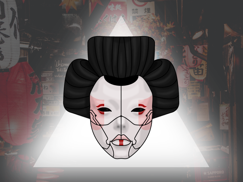 ghost in the shell geisha by calibanx dribbble dribbble. Black Bedroom Furniture Sets. Home Design Ideas