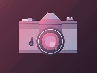 Film camera illustration lomo graphic design vector retro photography camera illustration
