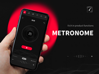 Metronome app logo icon ux illustration design app ui