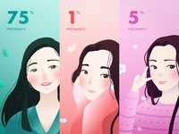 Female cycle illustration branding icon design app ui illustrator illustration