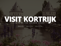 Visit Kortrijk Intro Typography