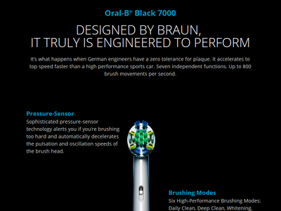 Oral-B® Black 7000 website redesign black