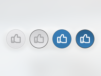 Like ui like button custom flat press style press state