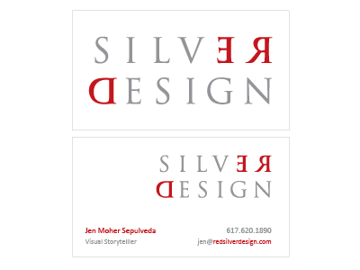 Red Silver Design (final?) Business card