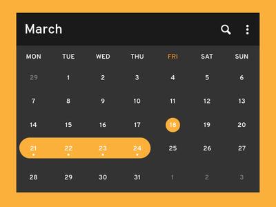 Daily UI   #080   Date Picker picker date 80 dailyui