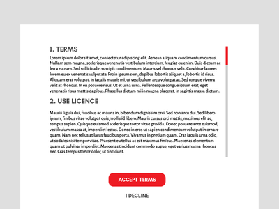 Daily UI | #089 | Terms of Service services of terms 89 dailyui