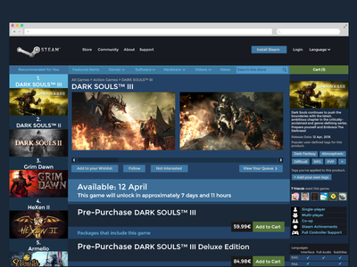 Daily UI   #091   Curated For You steam you for curated 91 dailyui