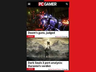 Daily UI   #094   News pcgamer news 94 dailyui