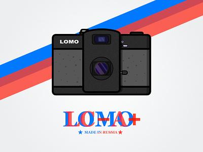 LOMO Camera LC-A+ lca camera illustrate