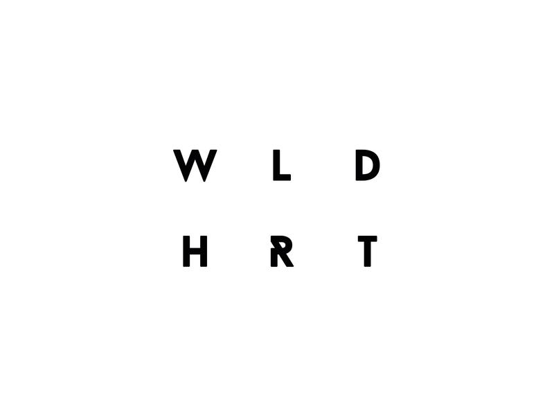 Wild Heart Coffee Roasters Brand creative typography monochrome logo design identity branding design logo brand
