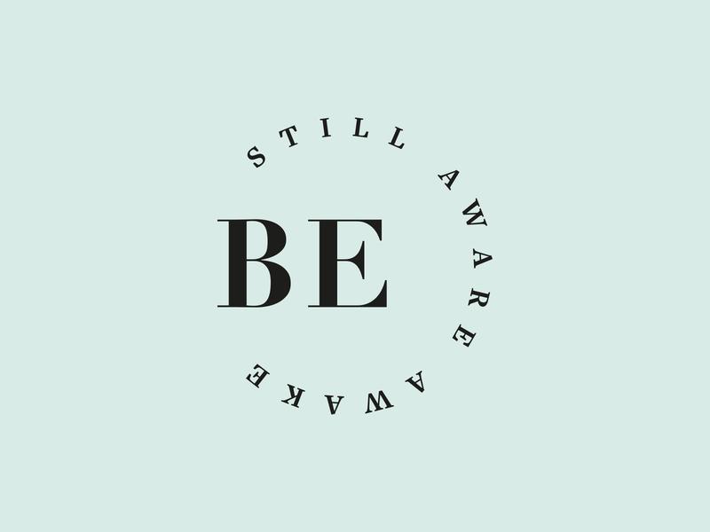 Be Still Aware Awake Logo logo design identity branding design creative logo brand