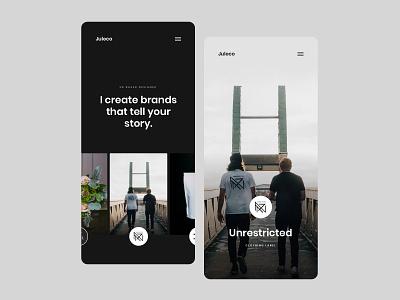 Mobile Concepts for Juleco mobile web design ui creative brand