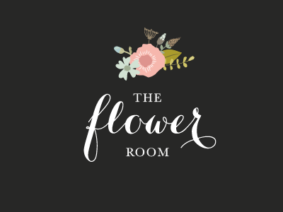The Flower Room, Holywood floral brand logo