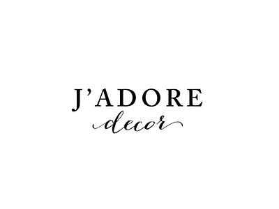 J'adore Decor Logo Concept logo brand