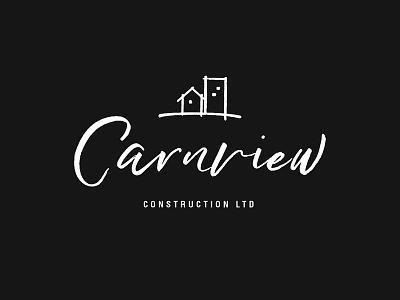 Carnview Construction handdrawn script font rebrand construction branding logo