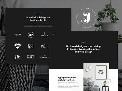 Juleco Website - Work in progress monochrome design brand website