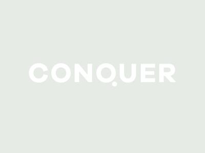 Conquer logo design identity creative brand logo