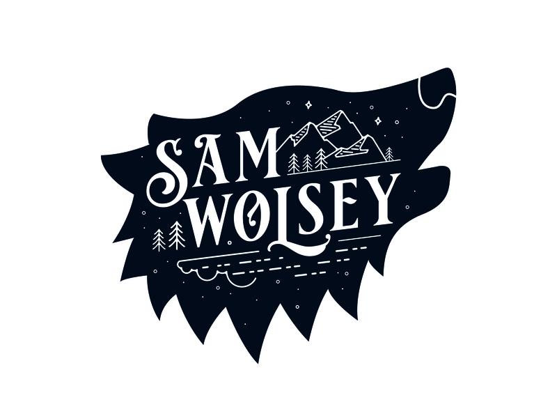 Sam Wolsey Photography Logo illustration design creative monochrome identity logo design logo branding brand