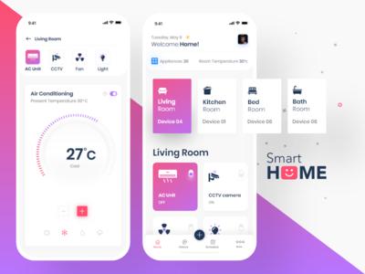 Smart Home App promotion branding app ui app screen ui app