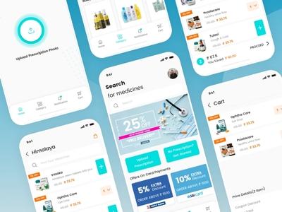 MediCare - A Medicine Delivery App medicine app screen app screens app ui ui app design mobile app medicine delivery medicare