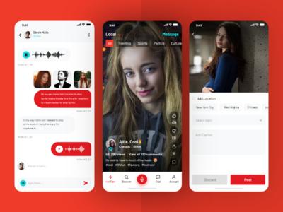 Social Shots promotion branding social media social networking ui tiktok app promotion app ui app screen mobile app