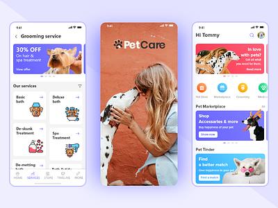 Pet Care mobile app ui ui promotion branding app design pet care app app ui mobile app pet care petcare