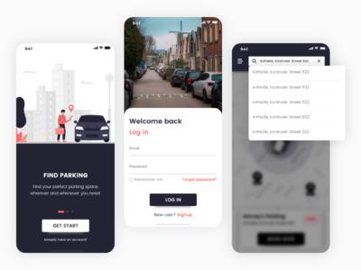 Car Parking Mobile App promotion branding app design car parking app ui app ui app mobile app car parking