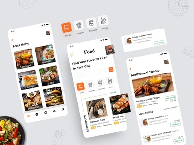 Food Delivery App food order app design branding app screens app ui mobile app food delivery