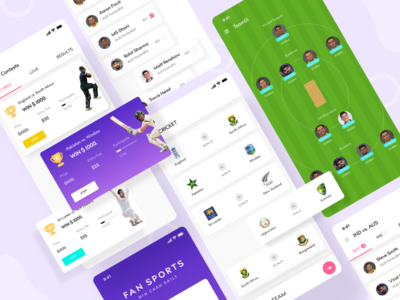 FanSports app design app ui mobile app sports app development fantasy sports fantasy app sports