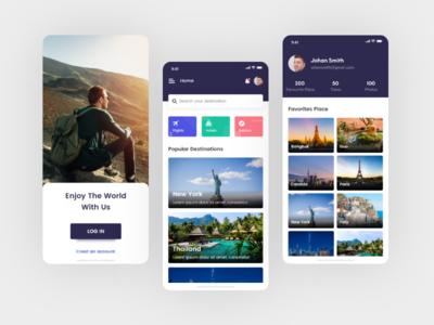 Go Trip travel apps apps dribbble design promotion branding app screen ui mobile app travel