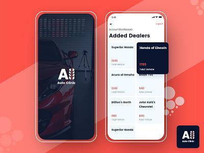 Auto Clinic icon design car repair app promotion branding car repair ui app ui app screen mobile app