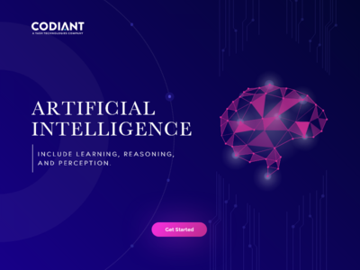 Artificial Intelligence designer landing page design branding promotion ai design artificial intelligence ai