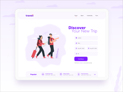Traveii travel website travel app travel app design app screens app screen app promotion app ui design ui mobile app branding