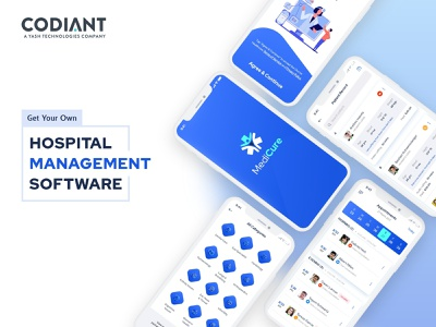 Hospital Management Software app design app screens app screen promotion app ui design ui branding mobile app hospital management hospital software
