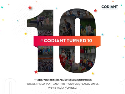 Codiant Turned 10! android ios web mobile app software anniversary codiant