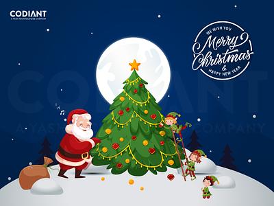 Merry Christmas dribbble characterdesign santa santa claus santaclaus christmas banner merrychristmas christmas