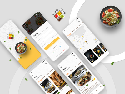 Grub Clue food app local search restaurant app food ordering app screens app design app screen app ui ui mobile app