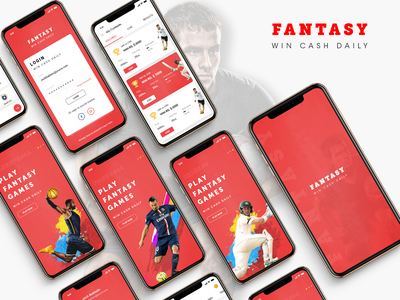 Fantasy Sports App fantasy fantasy app design fantasy football design fantasy app ui mobile app ui app ui app screens fantasy cricket fantasy football fantasy sports