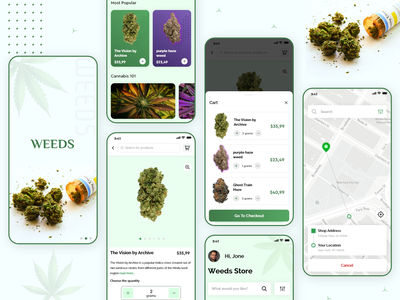Weed Delivery App weed delivery cannabis marijuana app design app screen app design app screens app ui ui mobile app weed
