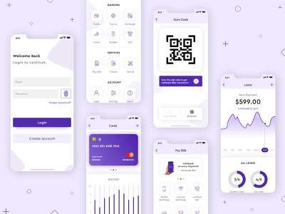 eWallet Mobile App ui app design app ui app screens mobile pay online payment online pay digital wallet mobile wallet wallet ewallet