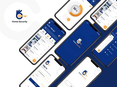 Home Security App branding home security app app design ui app app ui app screens mobile app design