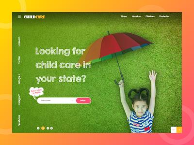 Childcare girl kid child children care love brand branding nanny baby babycare childcare app promotion child care