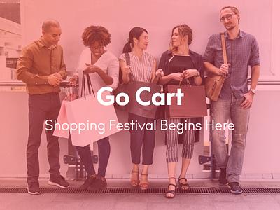 Go Cart iphone screens ui web branding promotion portfolio design mcommerce
